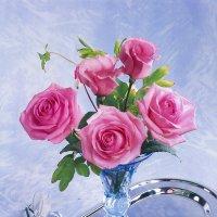 Розы и эустома :: Ольга Бекетова