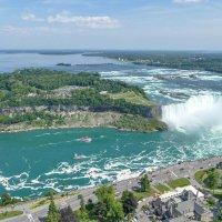 Река Ниагара, пороги, водопады, прогулочные кораблики... :: Юрий Поляков
