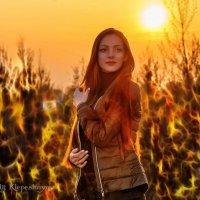 Портрет на фоне рыжего заката :: Анатолий Клепешнёв