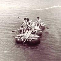 Август 1994 г. р.Немда - сплав на самодельном плоту , последний 8-й день. :: Василий ВЯТСКАЯ ГЛУБИНКА