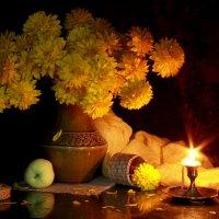 Осенний натюрморт при свете свечи... :: Нэля Лысенко