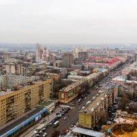 Улица с высоты птичьего полета.. :: Юрий Стародубцев