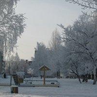 Морозный день в городе :: Alena Cyargeenka