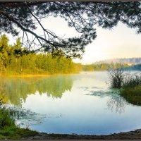 Рассвет на озере :: яков боков