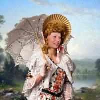 девушка с зонтком :: Grabilovka Калиниченко