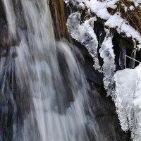 Водопадик(лёд и вода). :: Виталий Дарханов