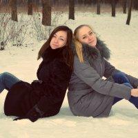 Леночка и Полька :: Любовь Клименко