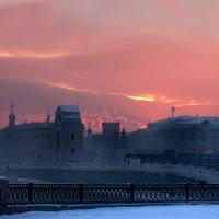 Морозный вечер Ангары... :: Александр | Матвей БЕЛЫЙ