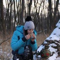 Чаепитие в зимнем лесу :: Алина Тазова