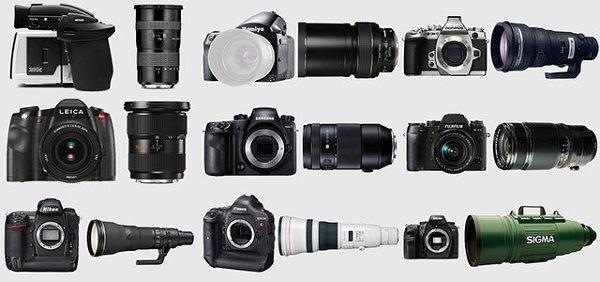 """Самые дорогие комплекты """"камера и объектив"""" от каждого производителя"""