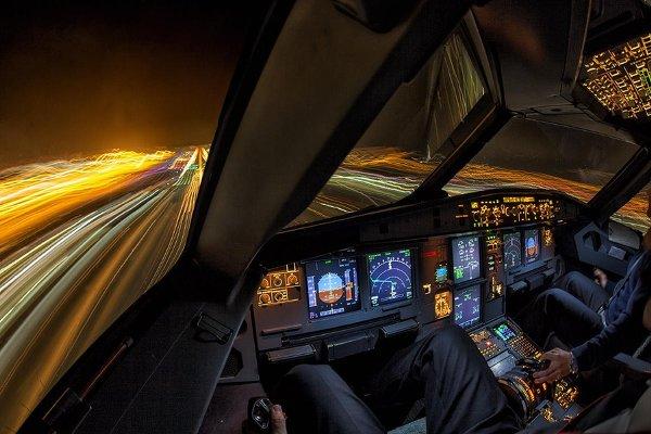 Фотографии, сделанные пилотами из кабин самолётов