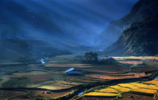 Великолепные рисовые террасы Вьетнама