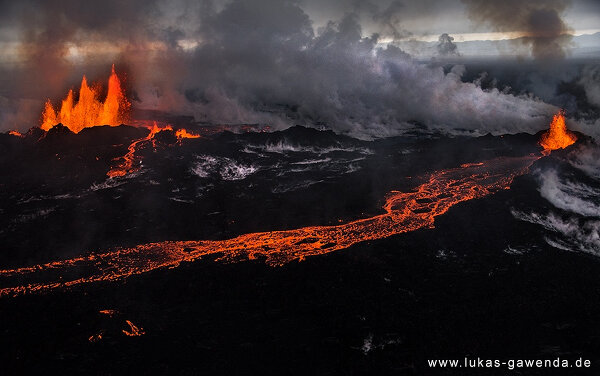 Аэрофотографии проснувшихся вулканов