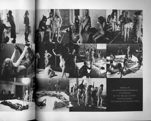 Обнажённый алфавит для журнала Avant Garde Magazine