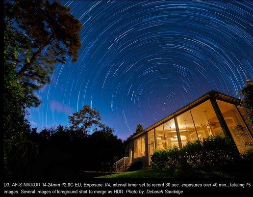 Фотосъемка звездных следов: повторяем за Деборой Сэндидж и Дайан Робинсон