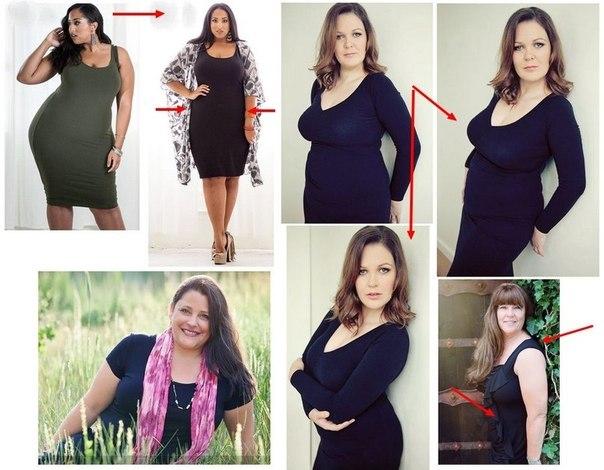 Позы при фотографировании полных женщин