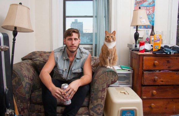 мужчина с котом картинки