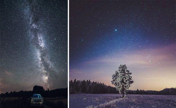 ночное небо фото