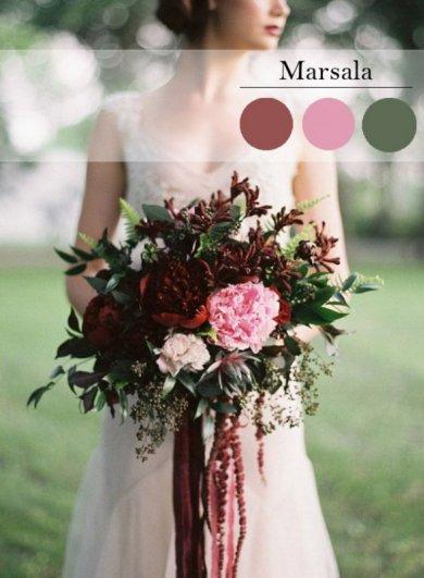 Свадьба в цвете МАРСАЛА - №7