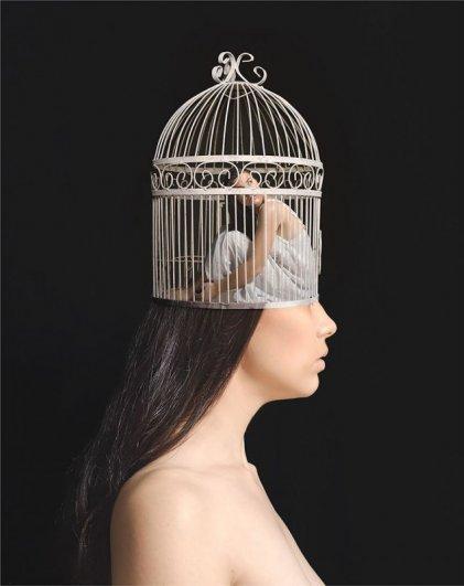 запертое сознание человека с тревожным расстройством