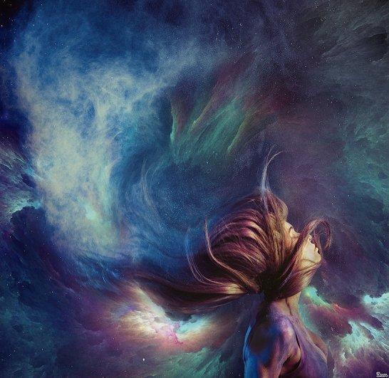 «Открытый космос в её голове». Автор: Ежъ Осипов