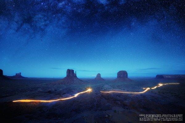 Живописный пейзаж в голубых тонах