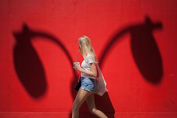 уличная мода фото в красном