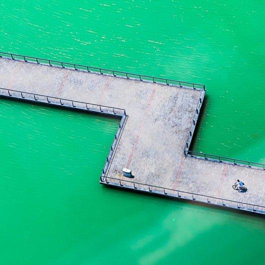 Архитектурные фото с зеленым