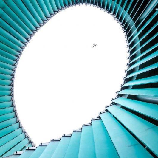 Архитектурные фото в голубых тонах
