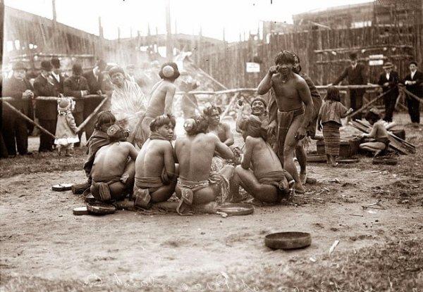 Представление туземцев на Кони Айленд, 1905 год.