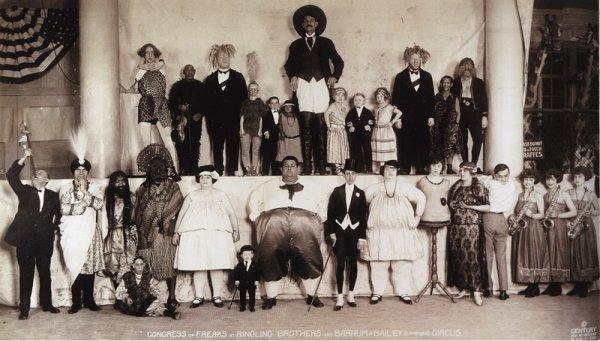 Съезд фриков: Цирк Барнума и Бейли, 1924 год.