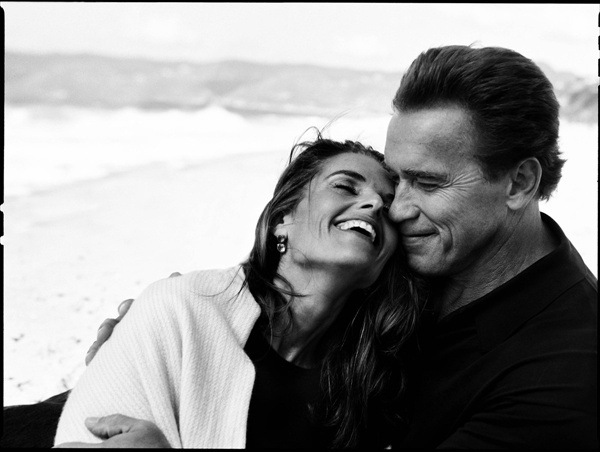 фотографии Энни Лейбовиц – Арнольд Шварценеггер со своей женой Марией Шрайвер (Maria Shriver)
