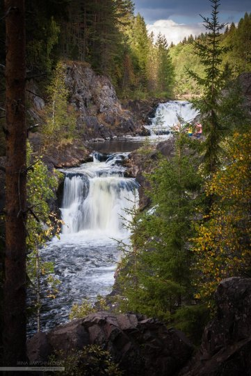 Водопад Кивач. Карелия