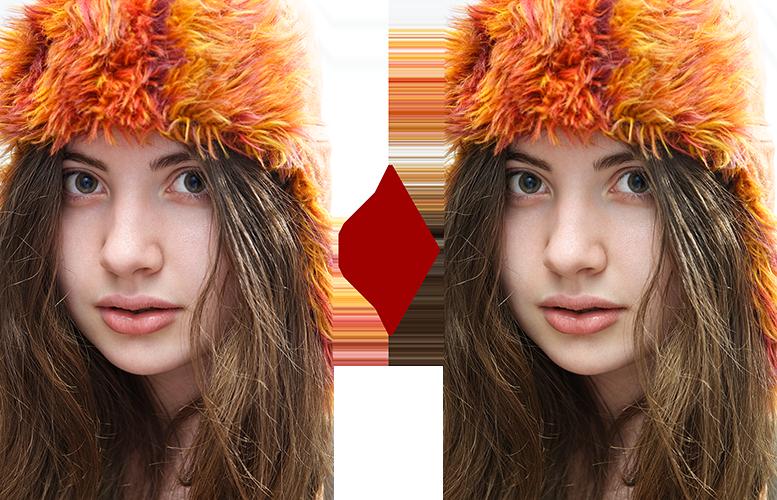 основы ретуши лица 5