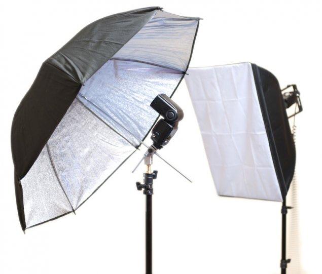 Вспышки и софтбокс для фотографирования портретов детей в школе