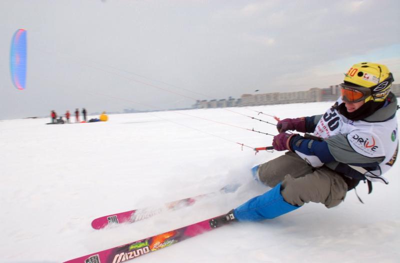 Фотография спортсмена на лыжах