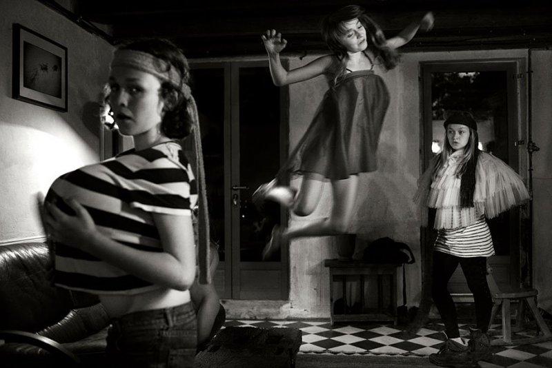 Семейные черно-белые фотографии Алена Лябуэля - №10