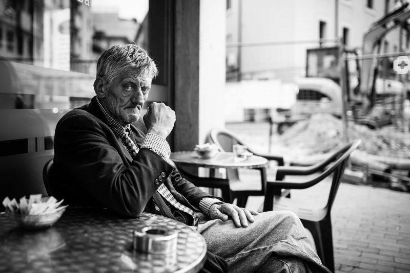 Черно-белая магия уличных портретов Джулио Магнифико - №13