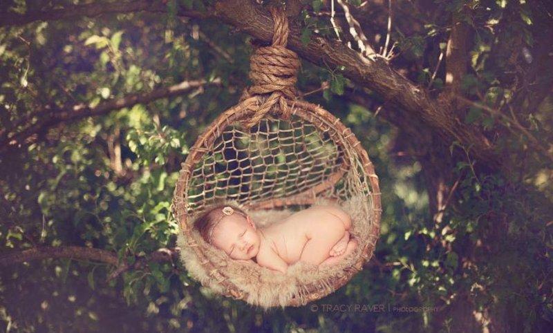 Спящие младенцы в фотографиях Трейси Рейвер - №14
