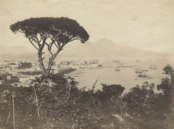 Роберто Риве. Вид на Неаполь и Неаполитанский залив. 1860