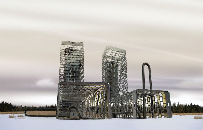 Архитектурные фантазии из домашних предметов - №10