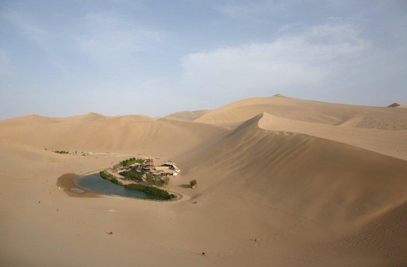 Красивые пейзажи китайской провинции Ганьсу - №14