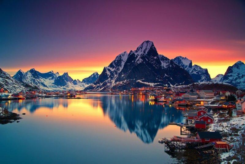 Роскошные пейзажи Норвегии - №12