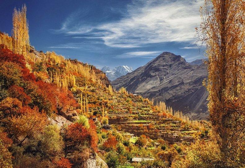 Разгар осени в долине Хунза, Пакистан. Автор фото: Наср Рахман.