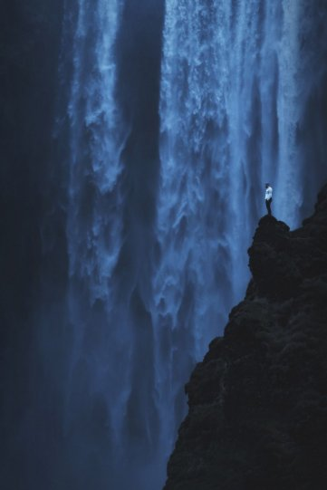 Водопад Скогафосс в Исландии.
