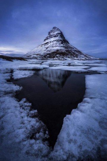 Гора Киркюфелл, Исландия.