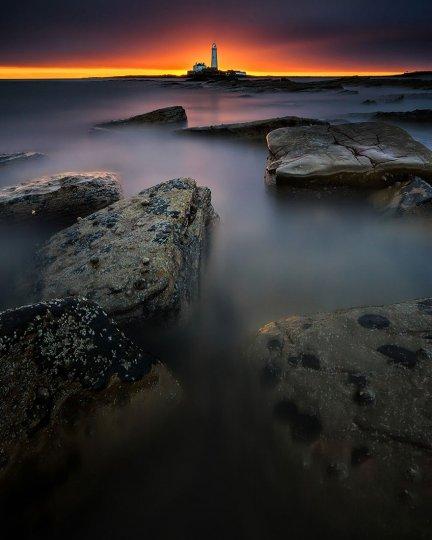 Маяк Святой Марии, остров Бэйт, залив Уитли, Англия. Фото: Стивен Валден
