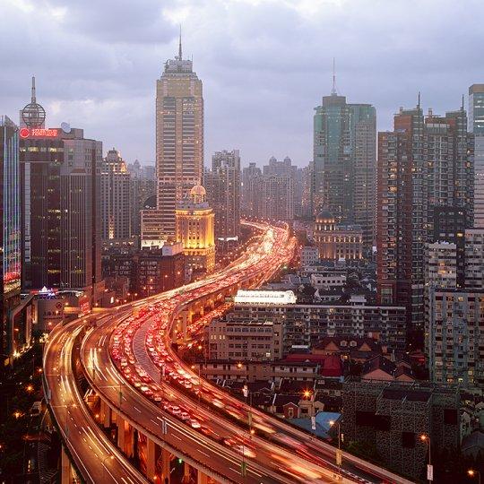 Архитектура Дубая и Шанхая в фотографиях Йенса Ферстерра - №18