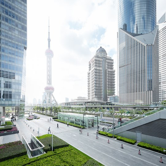 Архитектура Дубая и Шанхая в фотографиях Йенса Ферстерра - №19