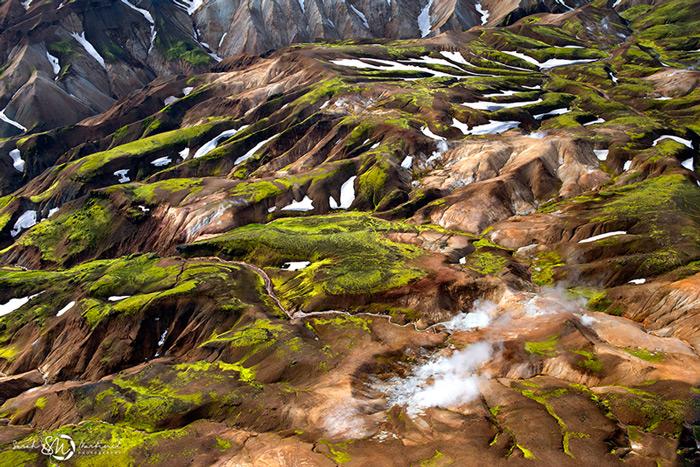 Пейзажи Исландии в аэрофотографиях Сары Мартинет - №2